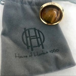 House of Harlow 1960 Tiger's Eye Ring